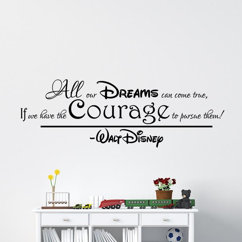 Chambre Deco Disney : Sticker all our dreams can come true walt disney design