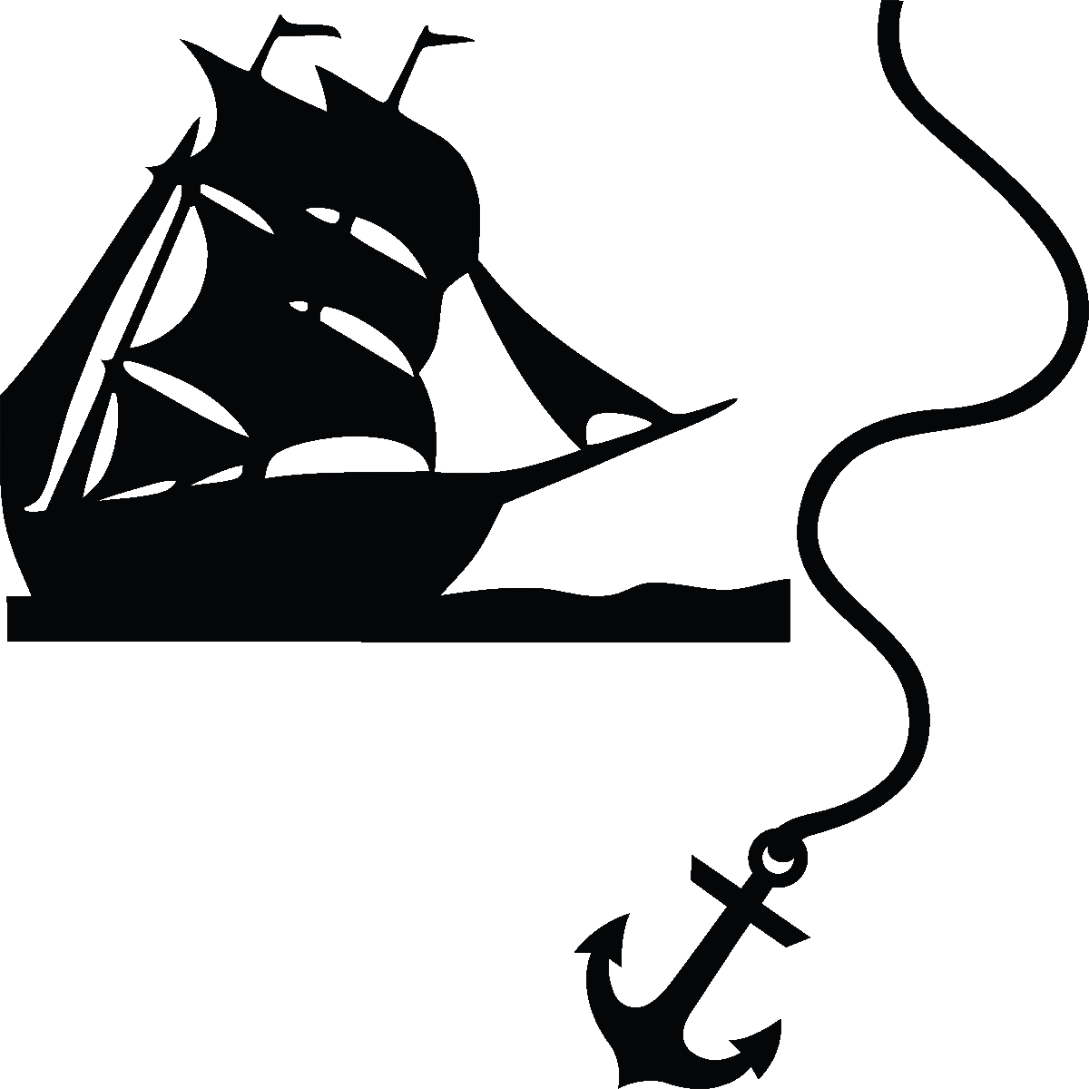 Ancre De Bateau Dessin stickers muraux pour wc - sticker mural ancre bateau | ambiance