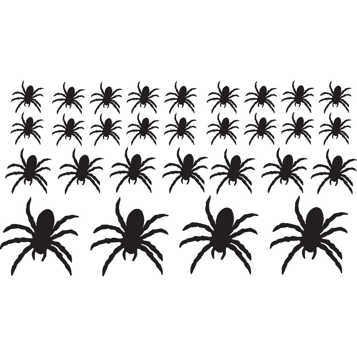 sticker déco araignées - stickers déco halloween | ambiance-sticker