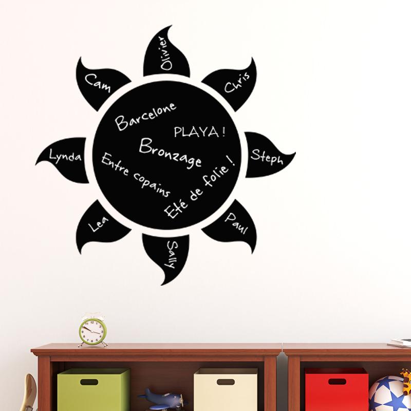 sticker ardoise design soleil stickers salle de jeux. Black Bedroom Furniture Sets. Home Design Ideas