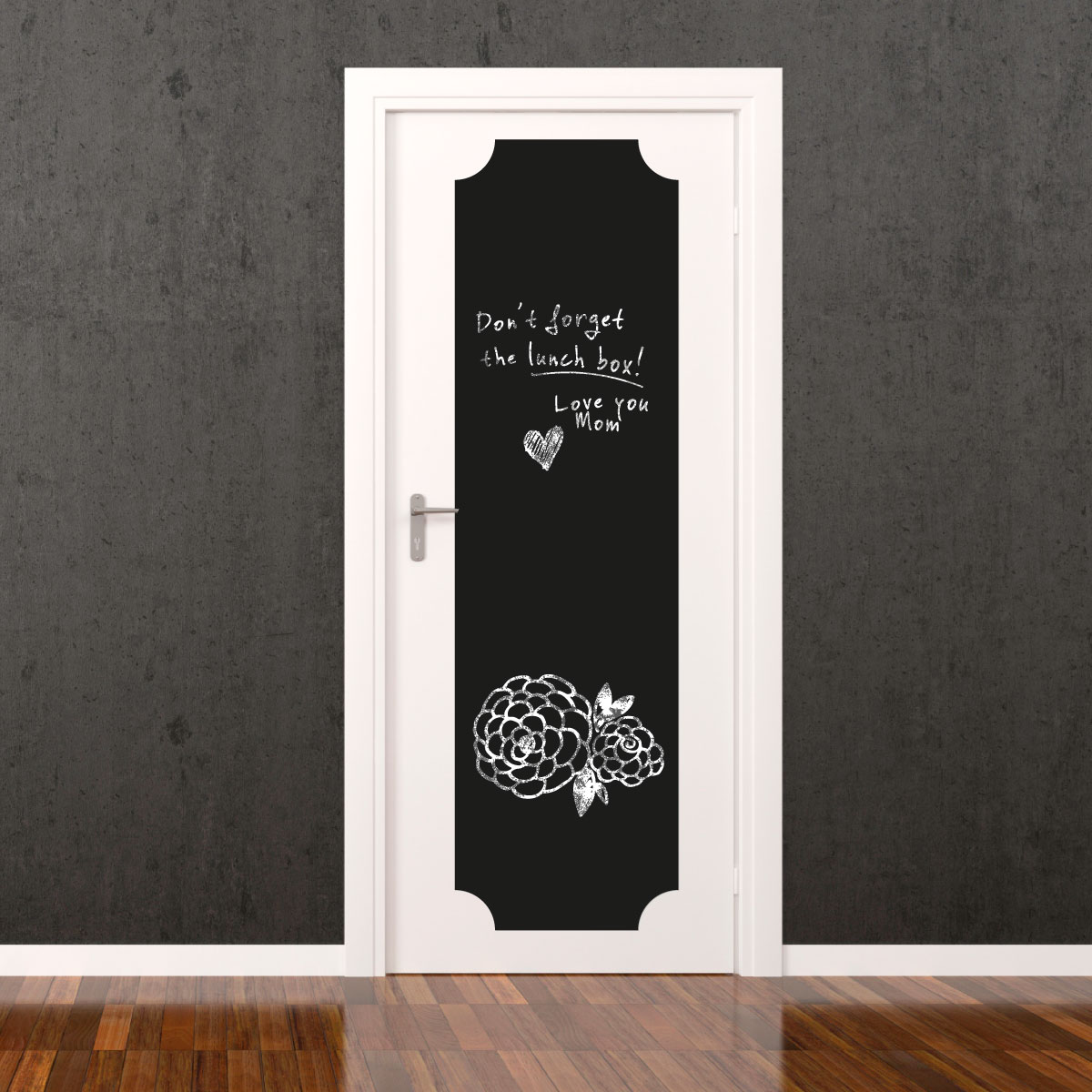 sticker ardoise pour porte d corative stickers stickers. Black Bedroom Furniture Sets. Home Design Ideas