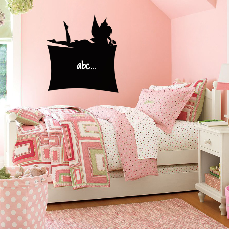 sticker ardoise silhouette f e stickers salle de jeux. Black Bedroom Furniture Sets. Home Design Ideas