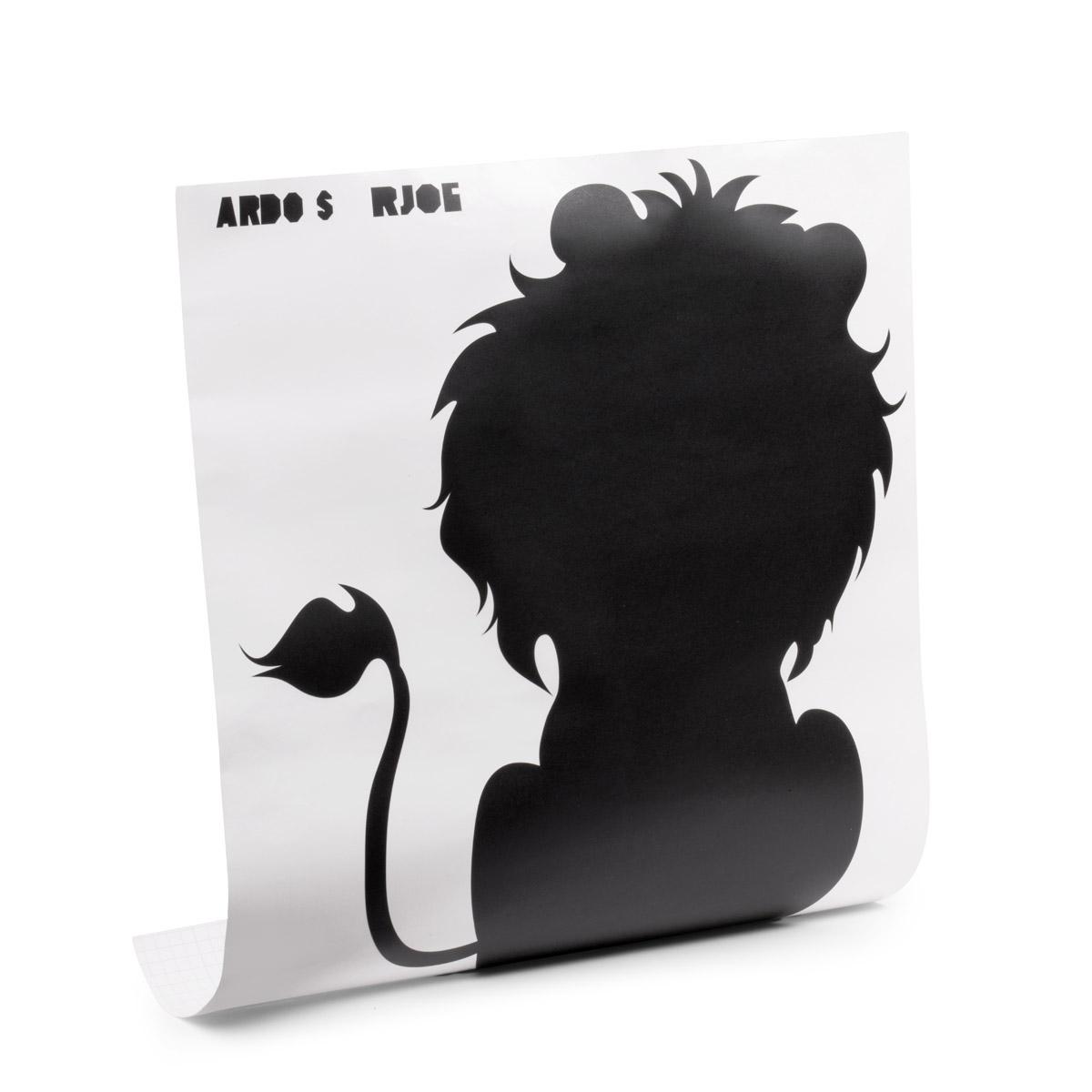 sticker ardoise silhouette lion stickers salle de jeux. Black Bedroom Furniture Sets. Home Design Ideas