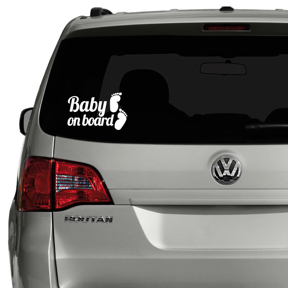 sticker auto baby on board et pieds stickers auto. Black Bedroom Furniture Sets. Home Design Ideas