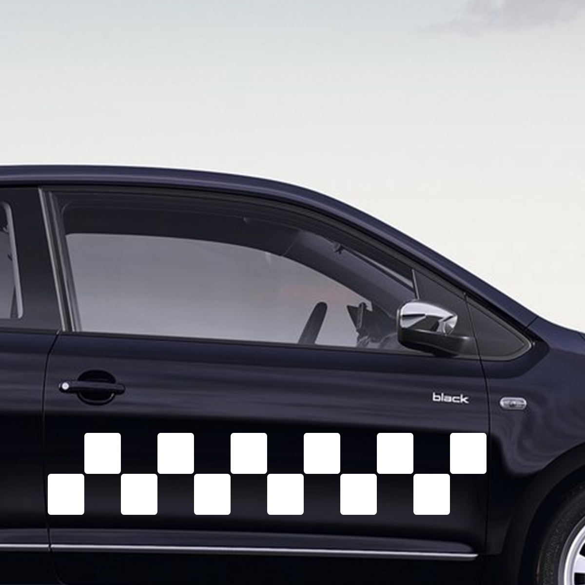 Sticker auto sticker auto design damiers