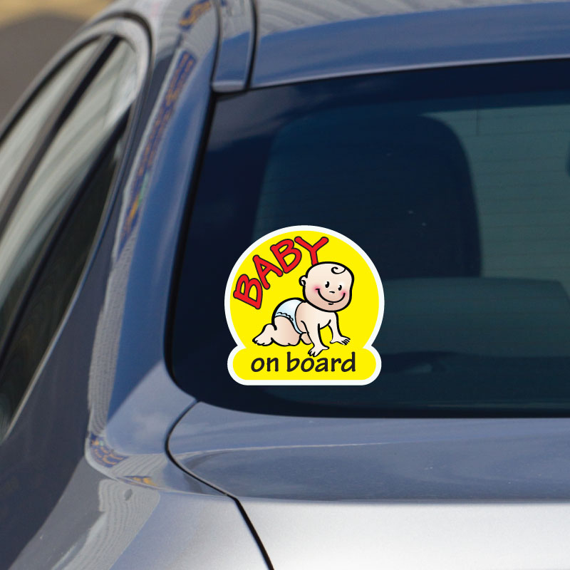 Baby On Board Car Sign Pirate Princess Window Child Kids Safety Decal Vehicle