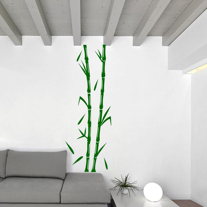 Sticker bambous fins en branche