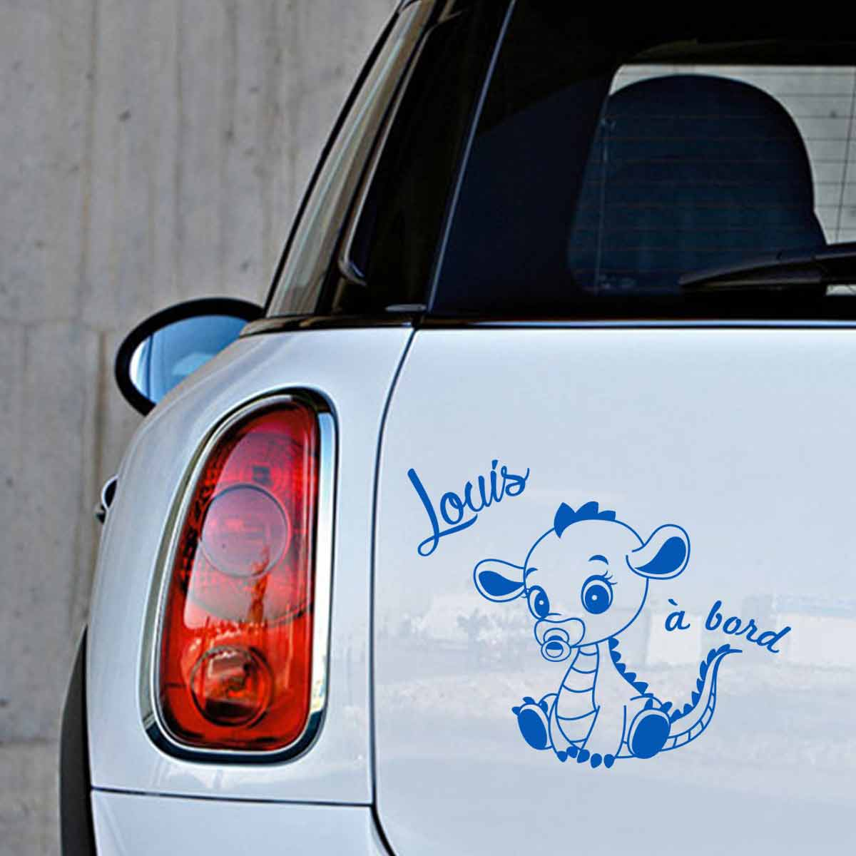 Autocollant voiture b b bord original for Autocollant mural personnalis