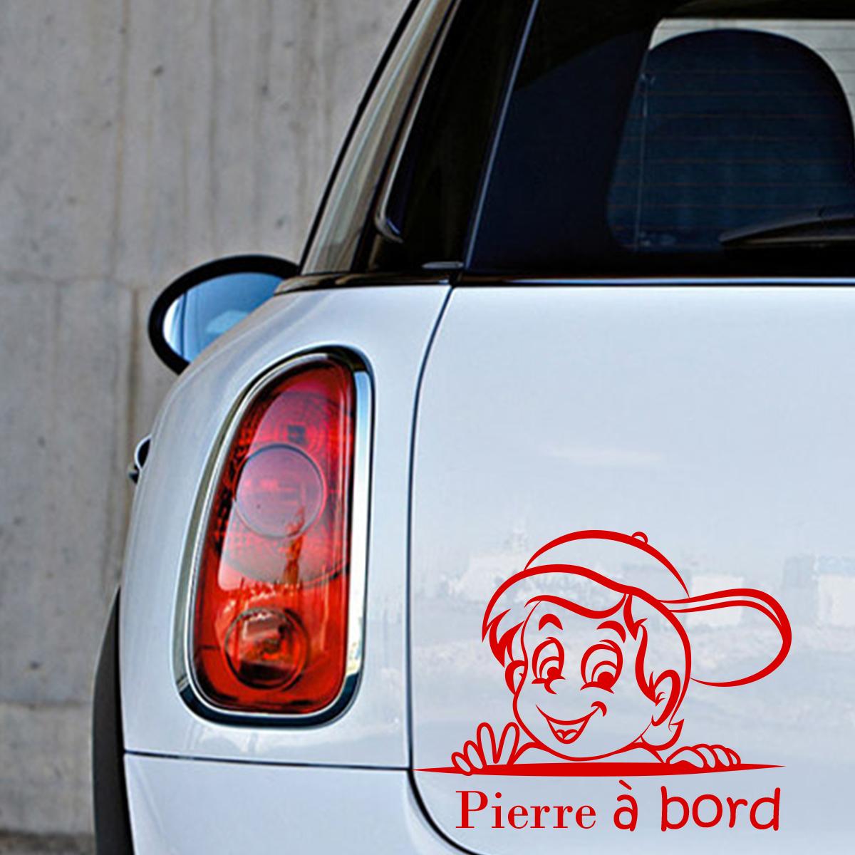 Personnalisé football fan à bord voiture signe ~ baby on board ~ blonde boy l bleu