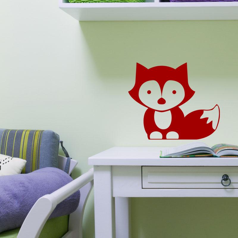 sticker b b renard stickers salle de jeux animaux. Black Bedroom Furniture Sets. Home Design Ideas