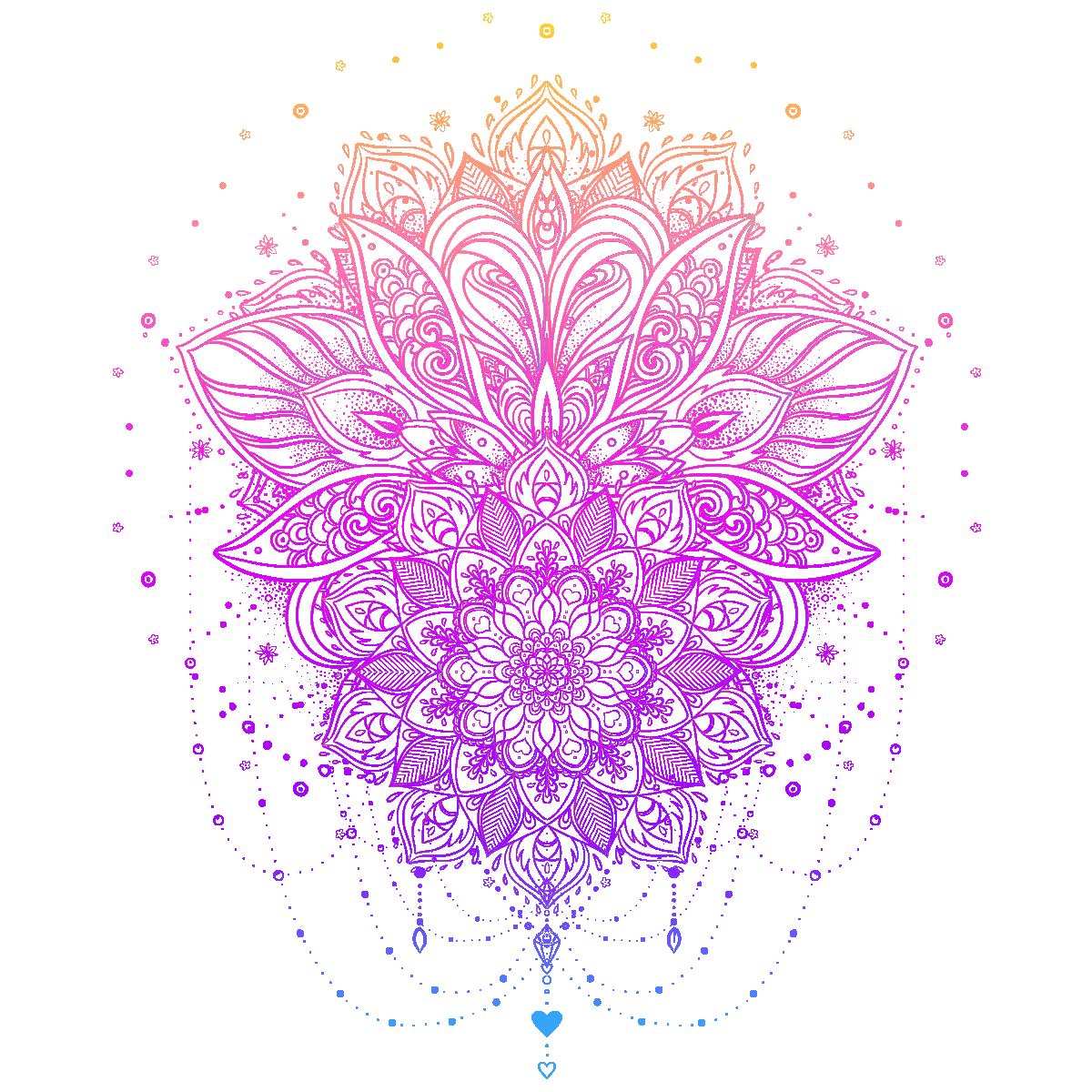 Sticker Boheme Fleur Mandala Stickers Nature Fleurs Ambiance Sticker