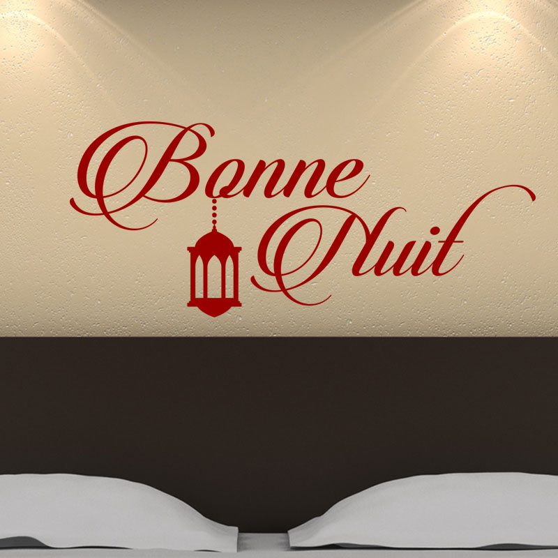 Image Bonne Nuit sticker bonne nuit avec élégance - stickers citations - ambiance-sticker
