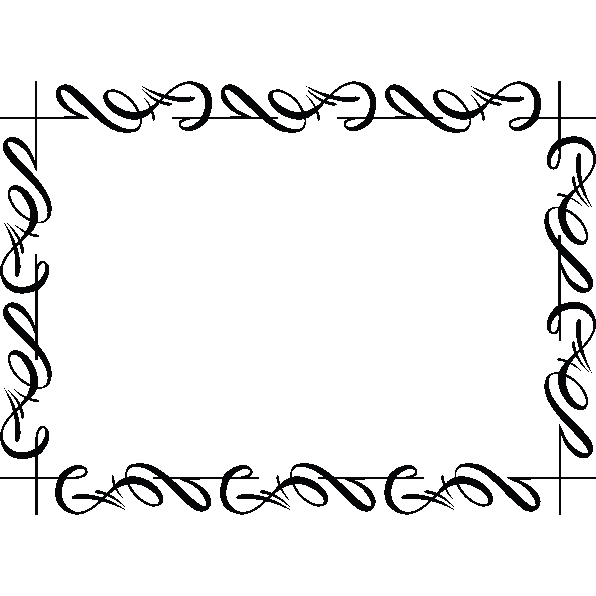 Cadre Bordure stickers muraux design - sticker mural bordure de cadre | ambiance