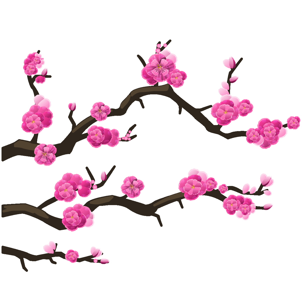 sticker branches cerisier du japon stickers villes et. Black Bedroom Furniture Sets. Home Design Ideas