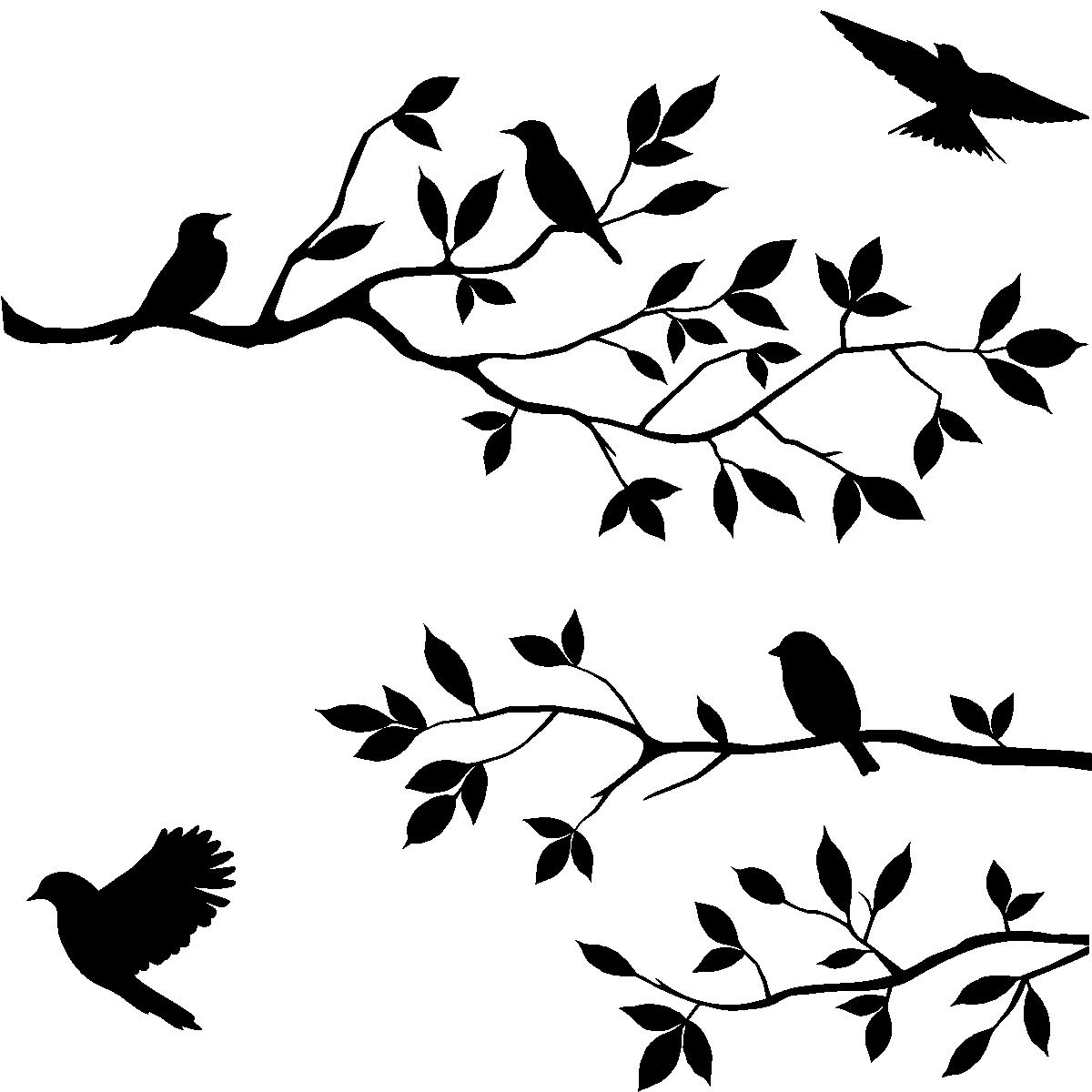 Sticker Branches D Arbre Et Les Oiseaux Stickers Stickers Nature