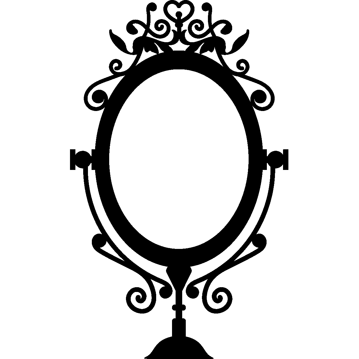Sticker cadre baroque pour miroir stickers art et design baroque ambiance sticker for Miroir cadre miroir