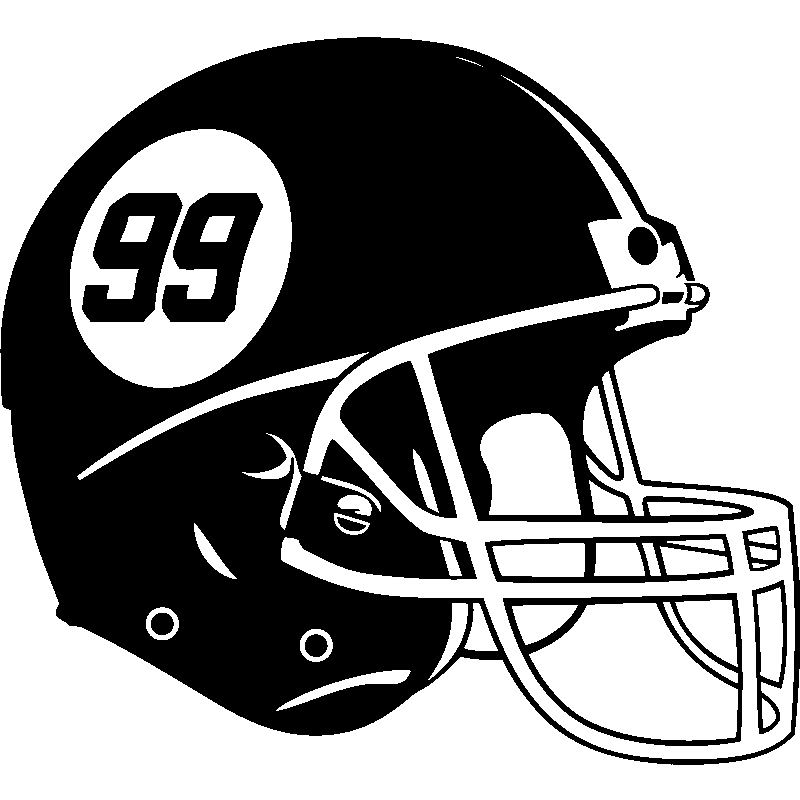 Stickers sport et football sticker casque foot am ricain ambiance - Dessin football americain ...