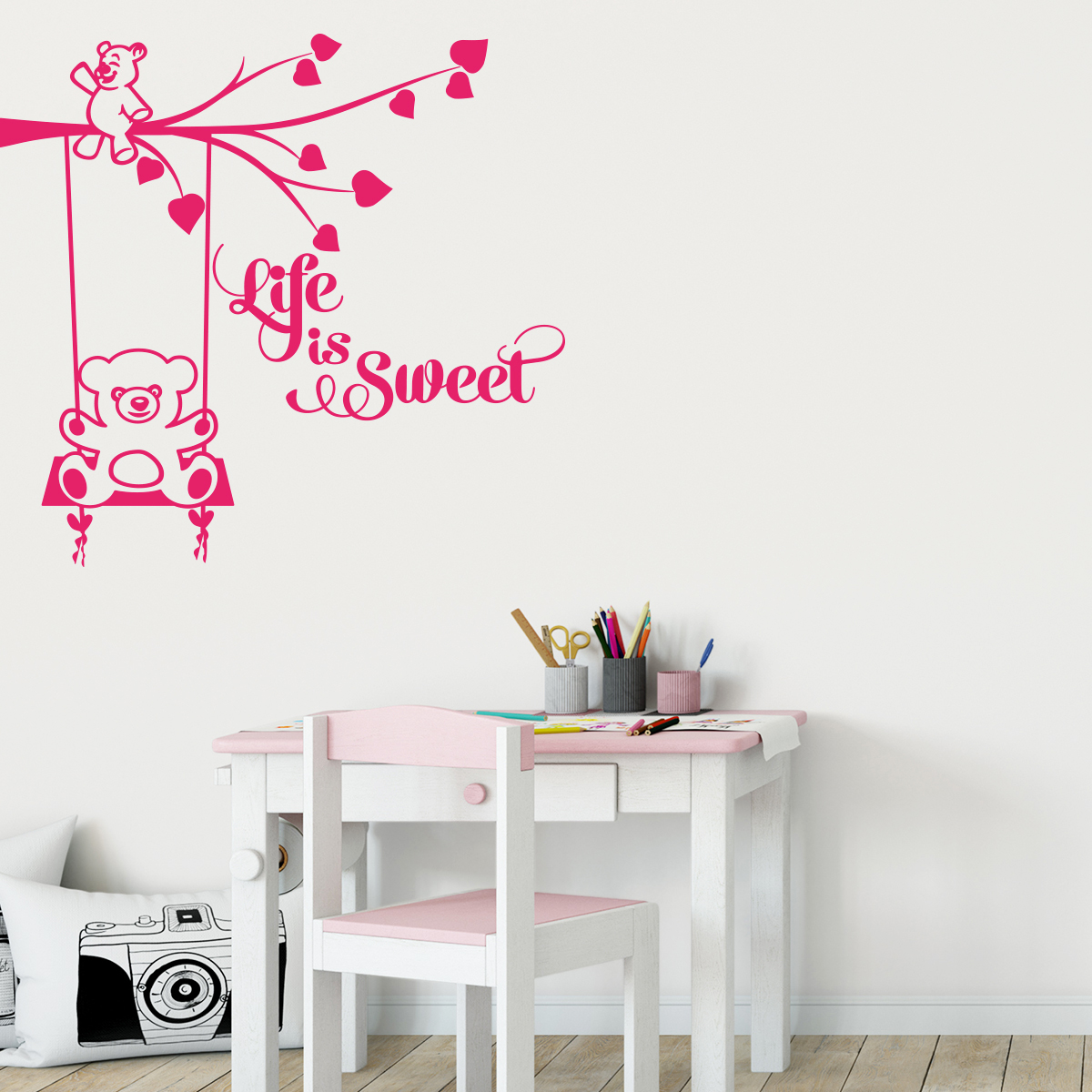 Sticker Chambre Enfant Citation Life Is Sweet Stickers Citations