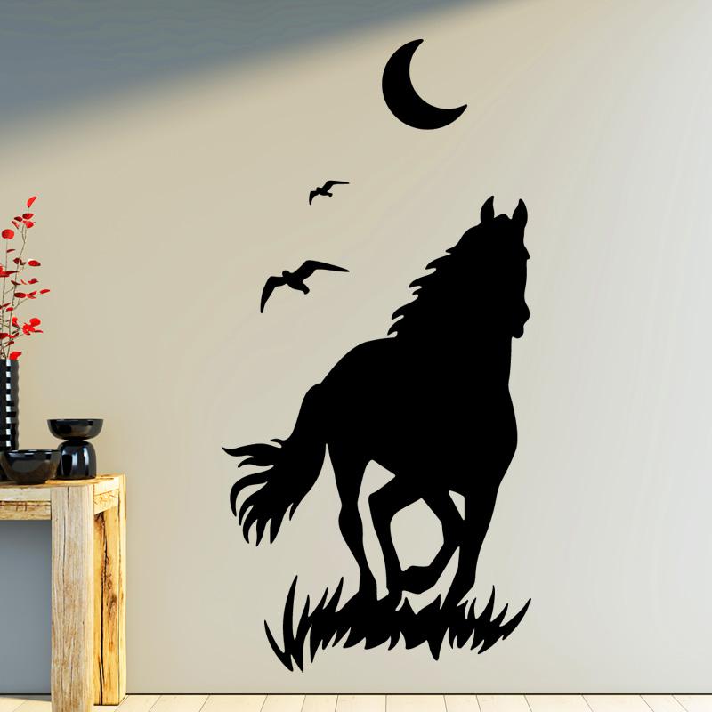 meubles non inclus autocollants d/écoratifs id/éal pour l/'/étag/ère KALLAX d/'IKEA KSWL15 STIKKIPIX Paddock chevaux et poneys autocollant meuble