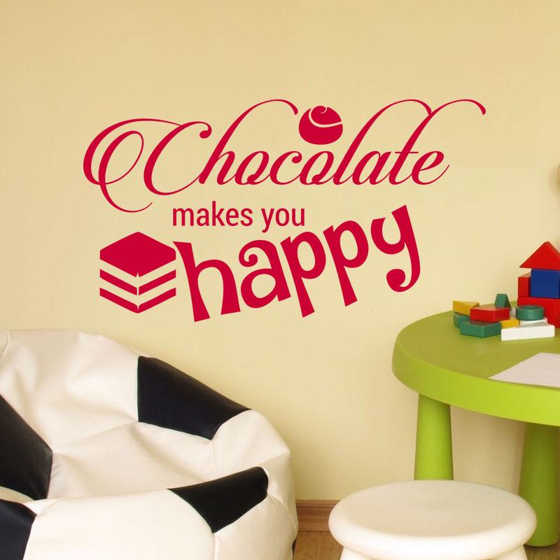Wandtattoo Chocolate is  God/'s answer to broccoli Aufkleber Sticker Klebeschrift