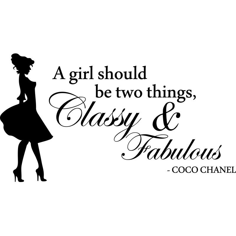 Sticker Citation A Girl Should Be Coco Chanel