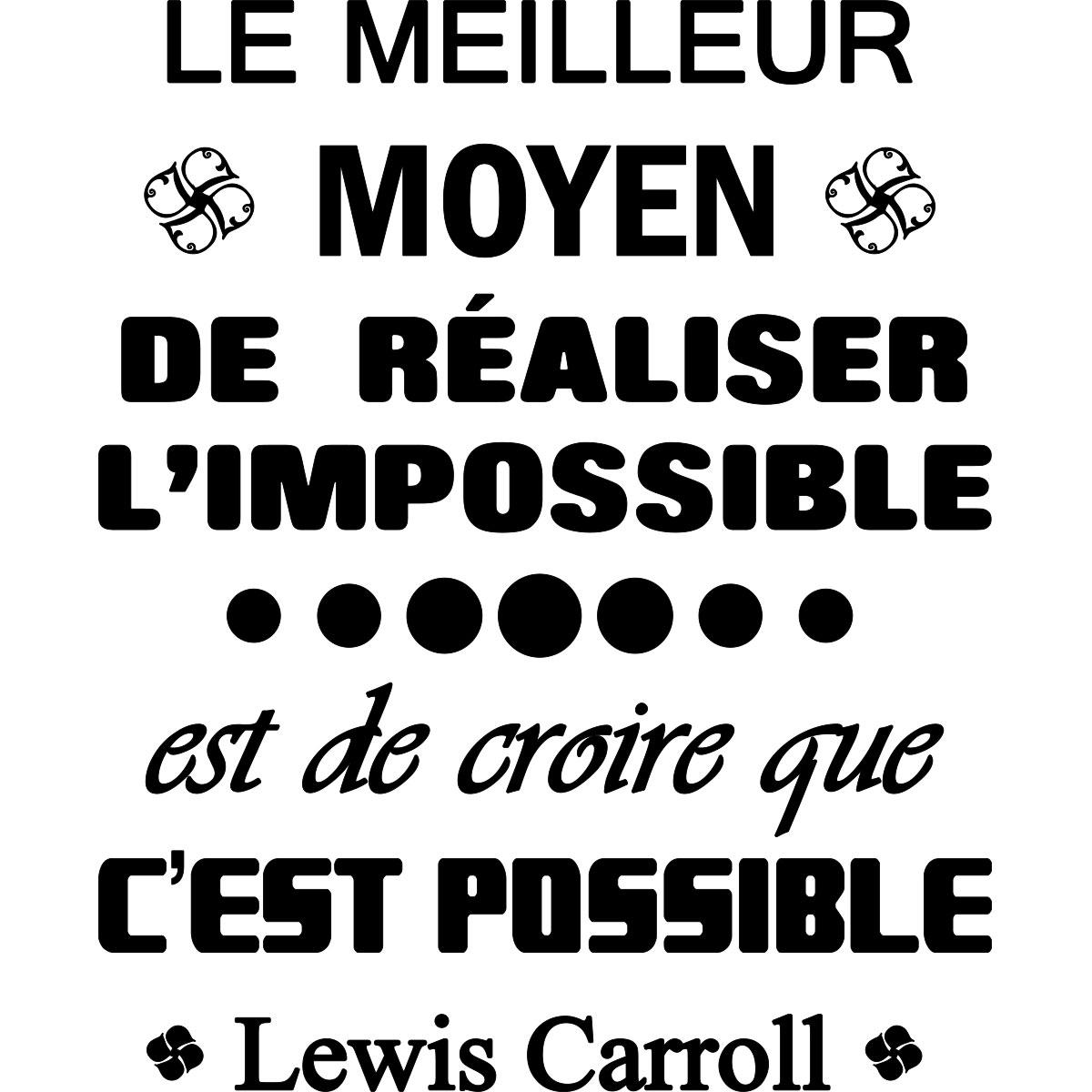 Sticker Citation Le Meilleur Moyen De Realiser Lewis Carroll