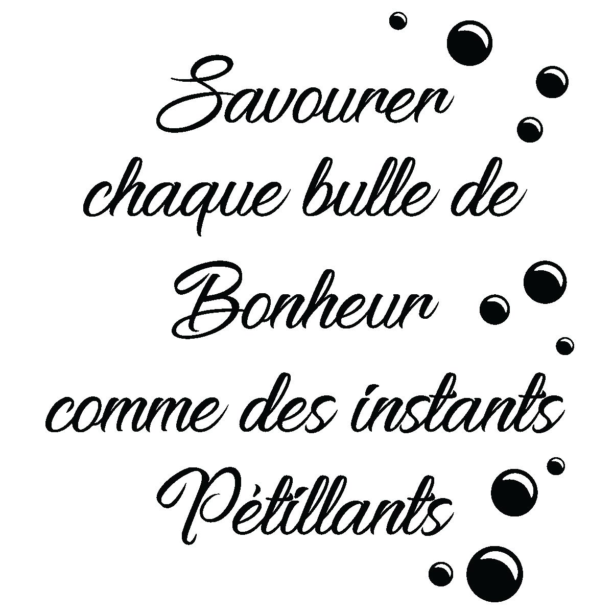 Sticker citation bulle de bonheur – Stickers Citations Français