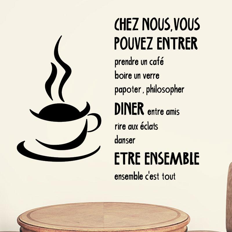 Sticker Citation Cuisine Chez Nous Vous Pouvez Entrer - Citation sur la cuisine
