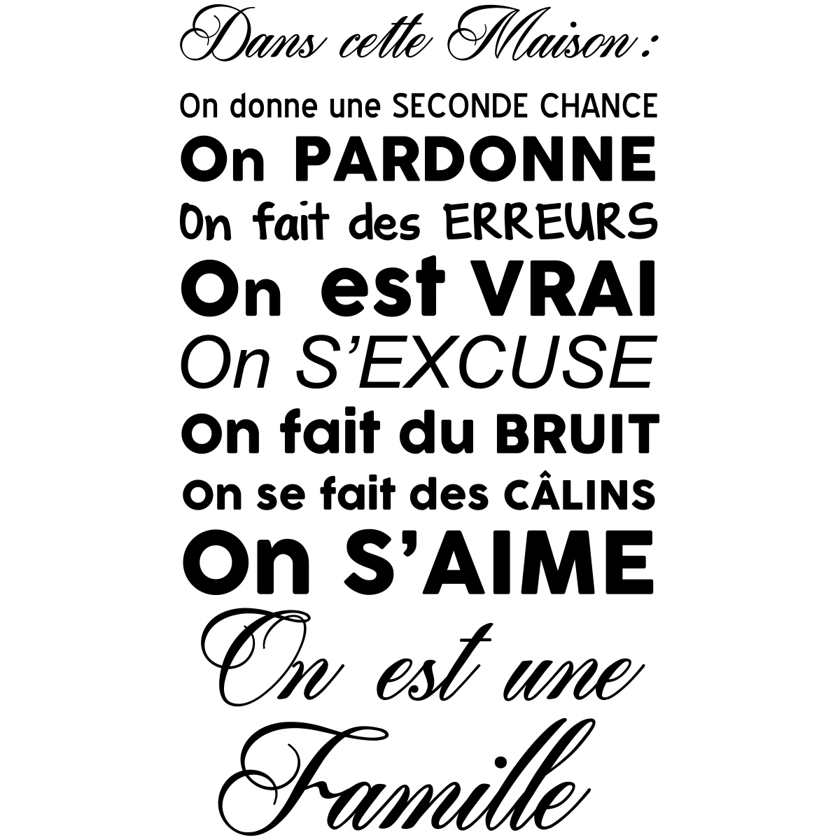 Citation Noel Bonheur Famille