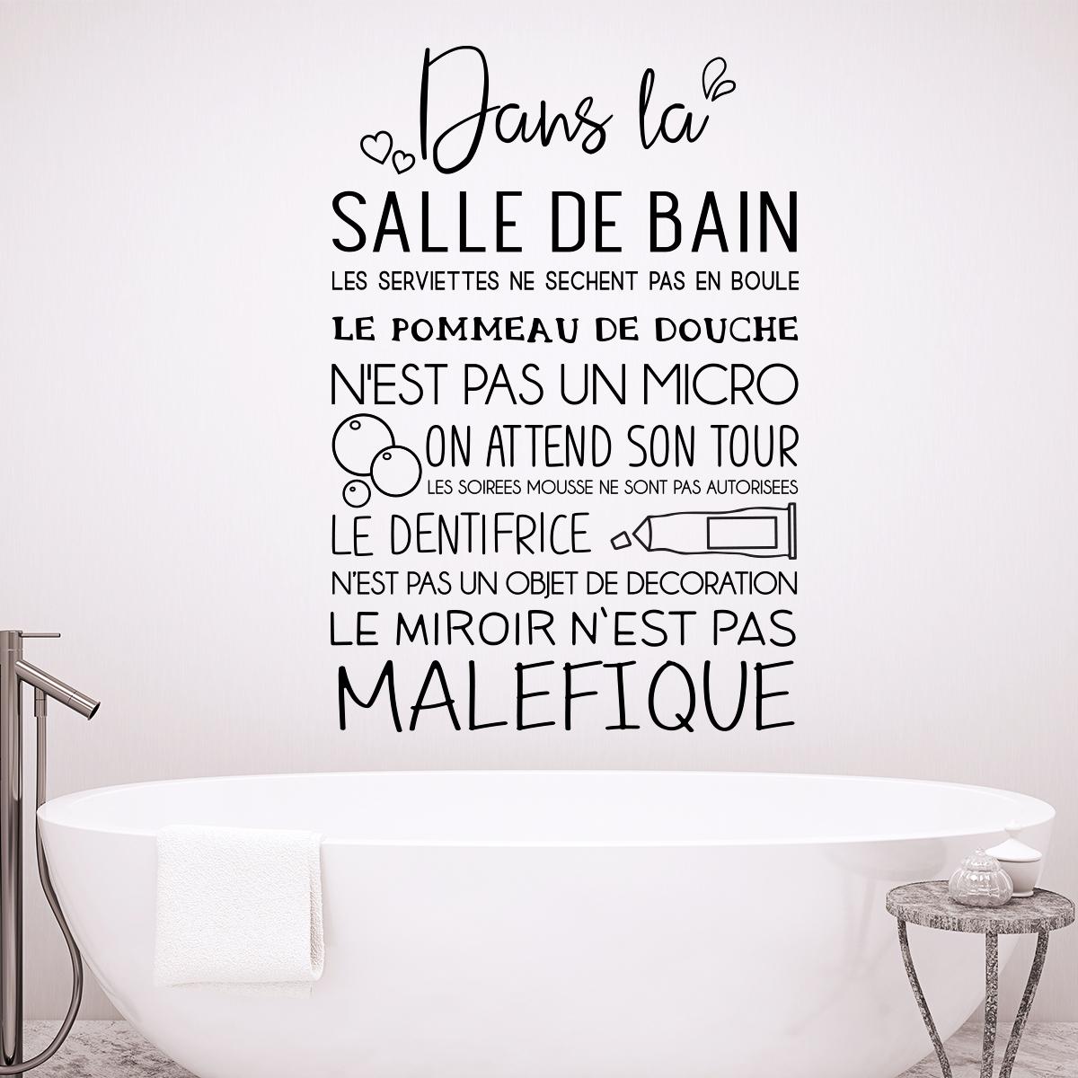 Sticker citation dans la salle de bain