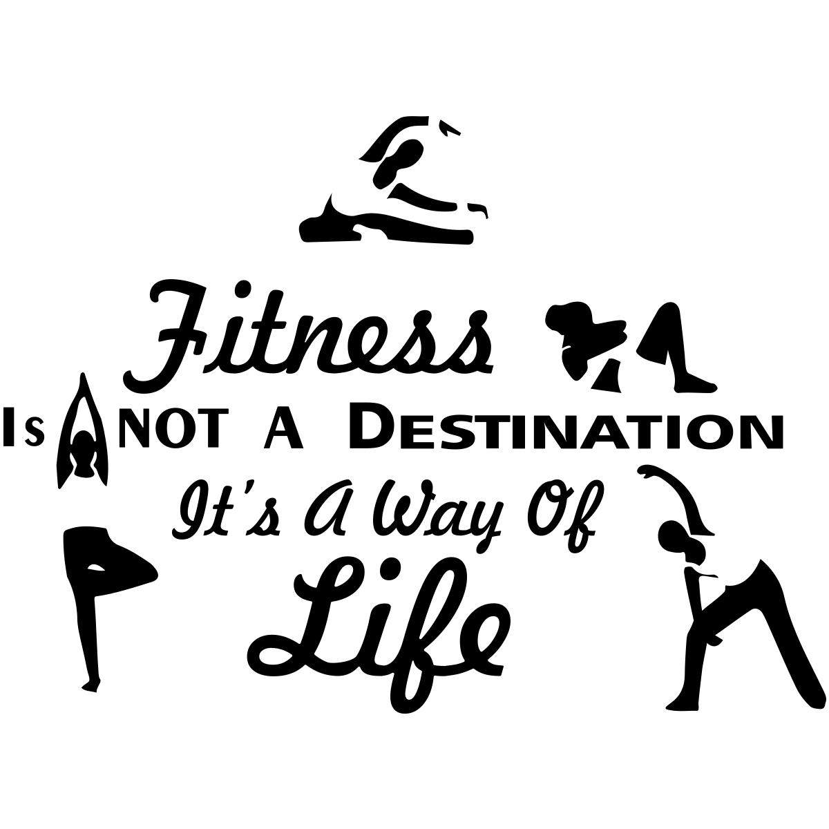 Sticker Citation Fitness Is Not A Destination Stickers