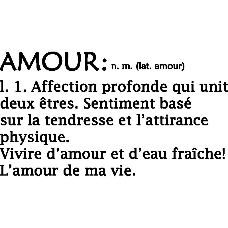 Sticker Citation L Amour De Ma Vie Stickers Citations Francais