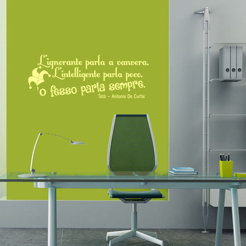 Wall stickers Wall Decals Toto aphorisms Famous phrases wall Antonio de curtis