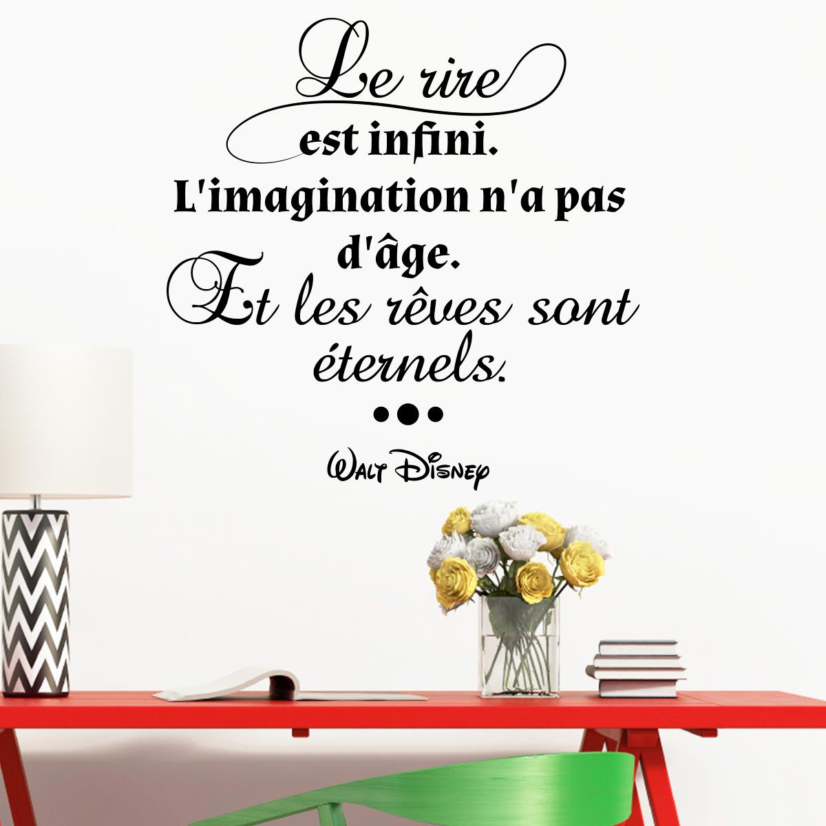 sticker citation l 39 imagination n 39 a pas d 39 ge walt disney stickers citations fran ais. Black Bedroom Furniture Sets. Home Design Ideas