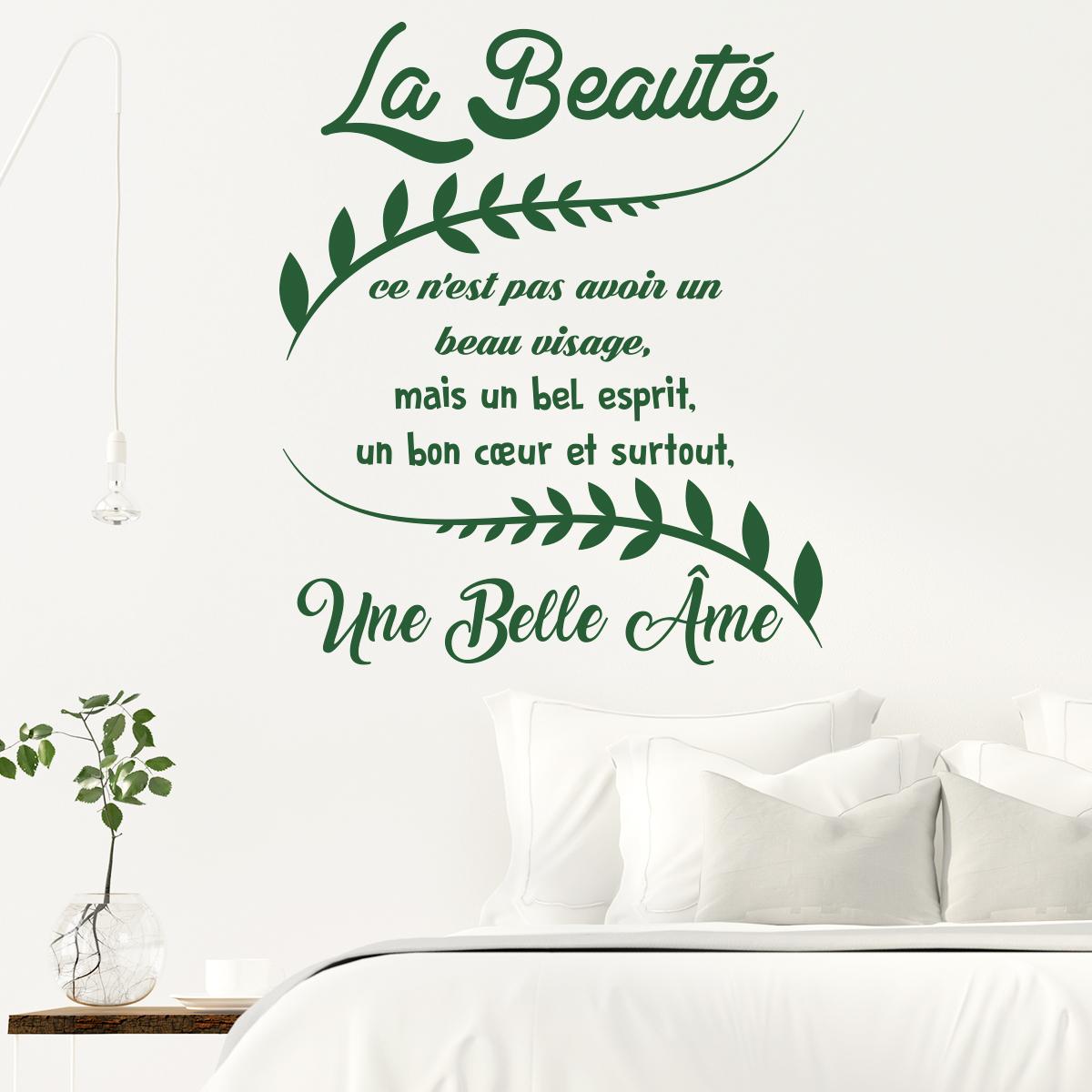 Sticker Citation La Beauté Ce N Est Pas Avoir Un Beau Visage