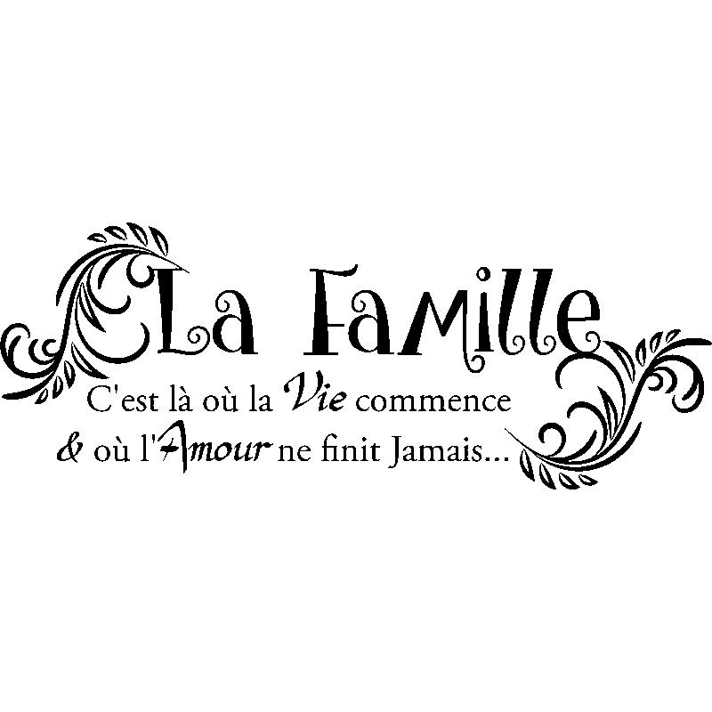 Sticker Citation La Famille Stickers Stickers Citations Francais Ambiance Sticker