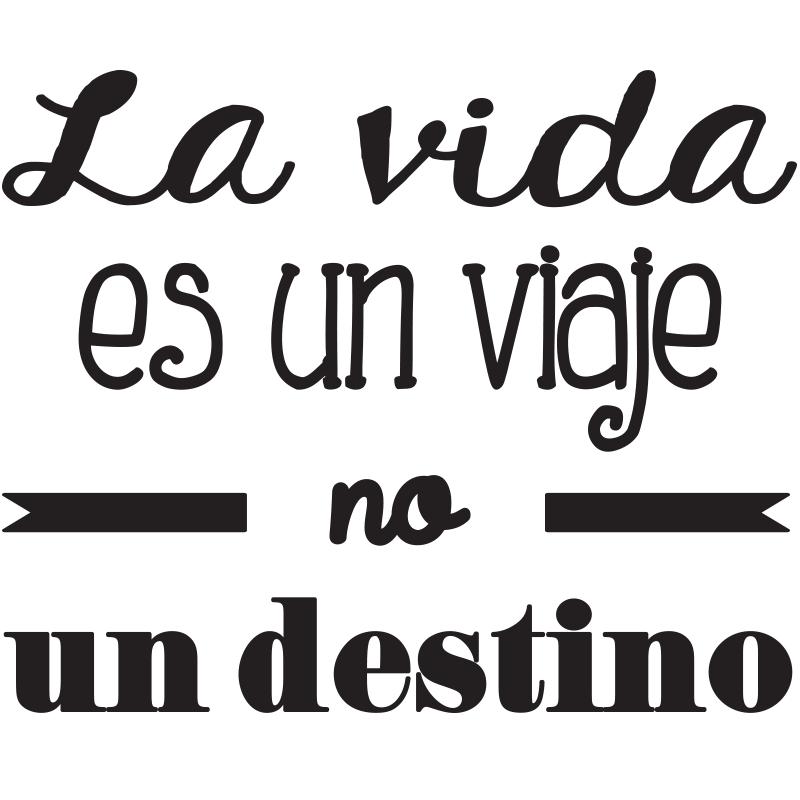 Sticker Citation La Vida Es Un Viaje