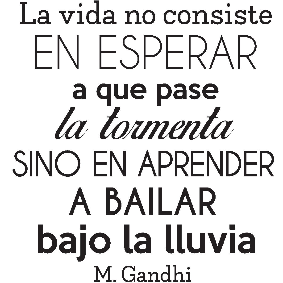 Sticker Citation La Vida No Consiste Gandhi