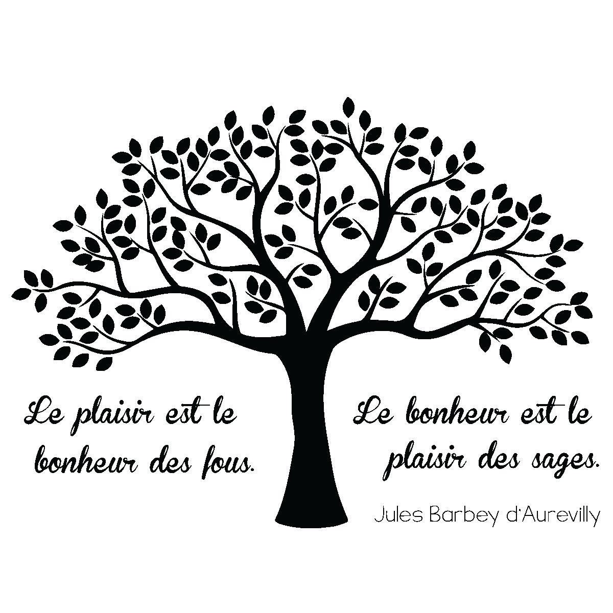 Sticker Citation Le Plaisir Et Le Bonheur