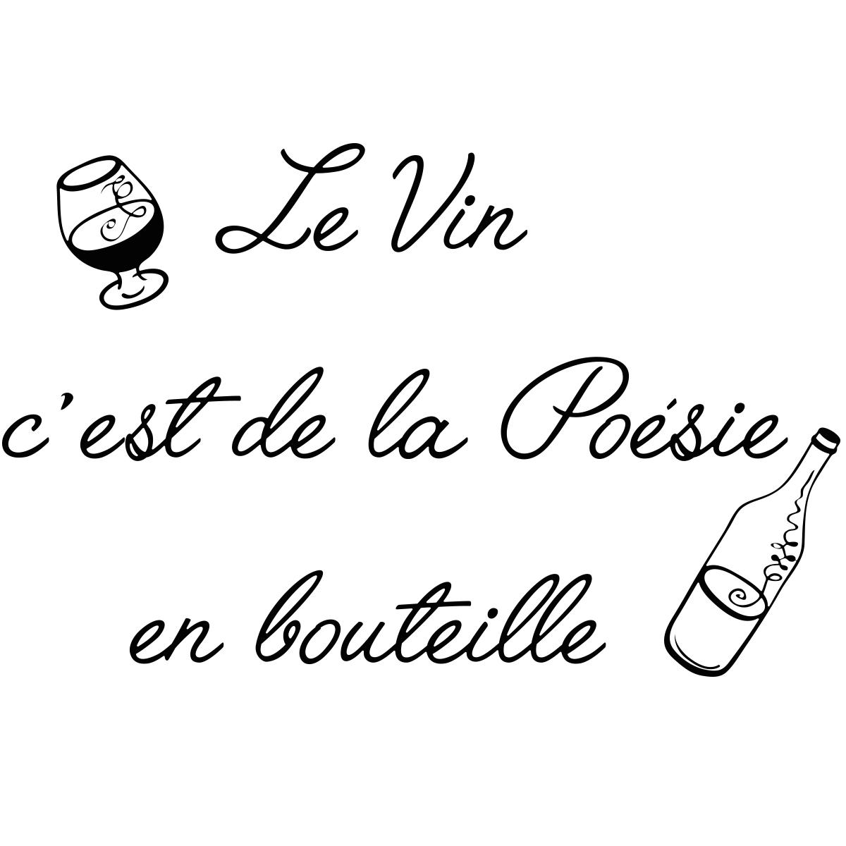 Sticker Citation Le Vin C Est De La Poesie Stickers Stickers