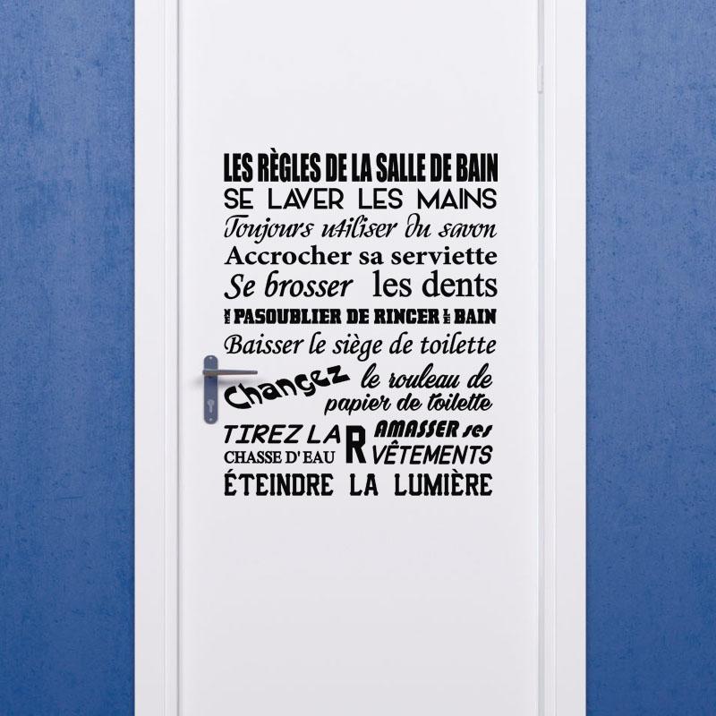 Sticker Citation Les Règles De La Salle De Bain – Stickers