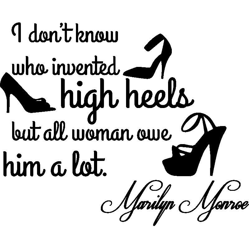 Sticker Citation Mode High Heels Marilyn Monroe
