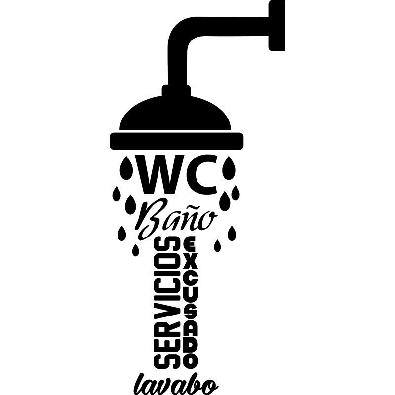 Sticker Citation Porte De Toilette Wc Bano Lavabo Stickers