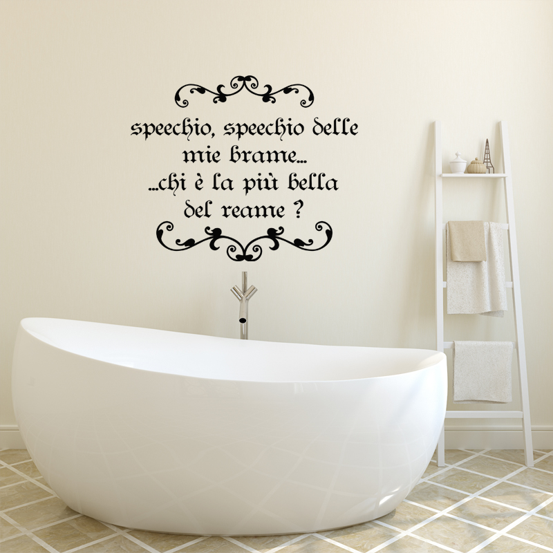 Sticker citation speechio belle mie brame stickers citations italien ambiance sticker - Stickers pour salle de bain sur carrelage ...