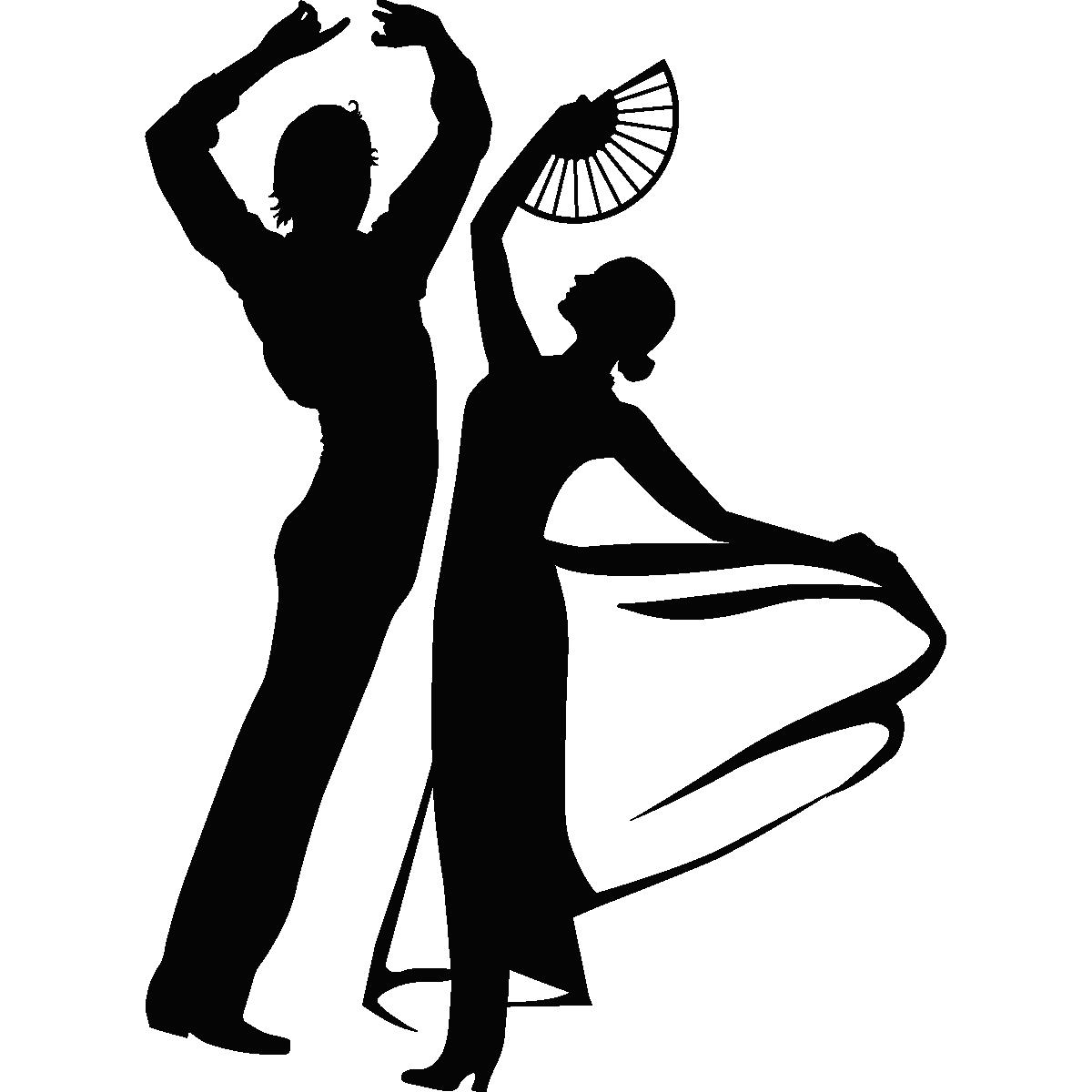 Stickers Muraux De Silhouettes Et Personnages Sticker Danse