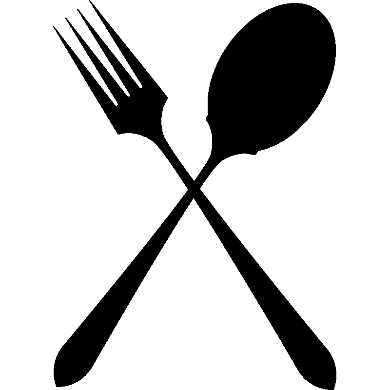 Sticker Cuisine Cuillère Et Fourchette Croisées