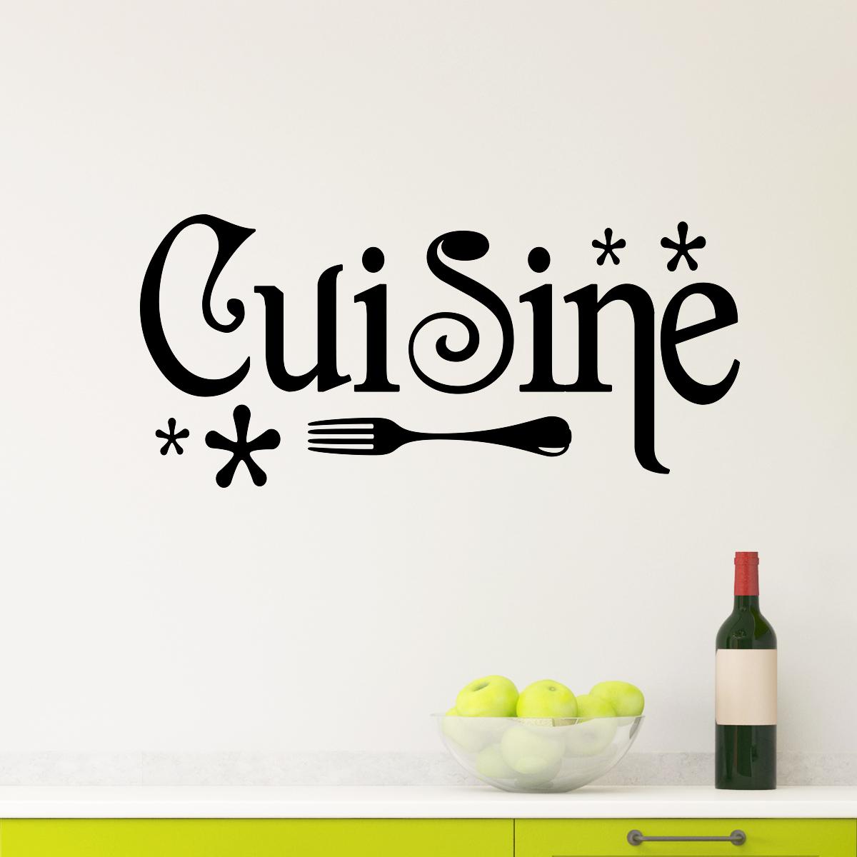 Sticker cuisine design stickers stickers cuisine textes et recettes ambiance sticker - Stickers deco meuble ...