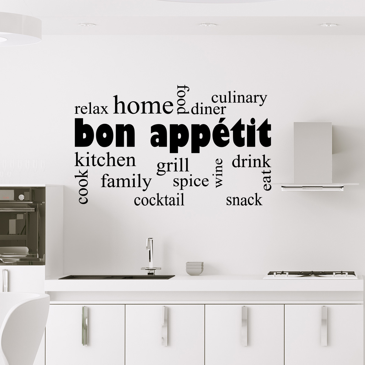sticker cuisine design bon app tit stickers cuisine. Black Bedroom Furniture Sets. Home Design Ideas