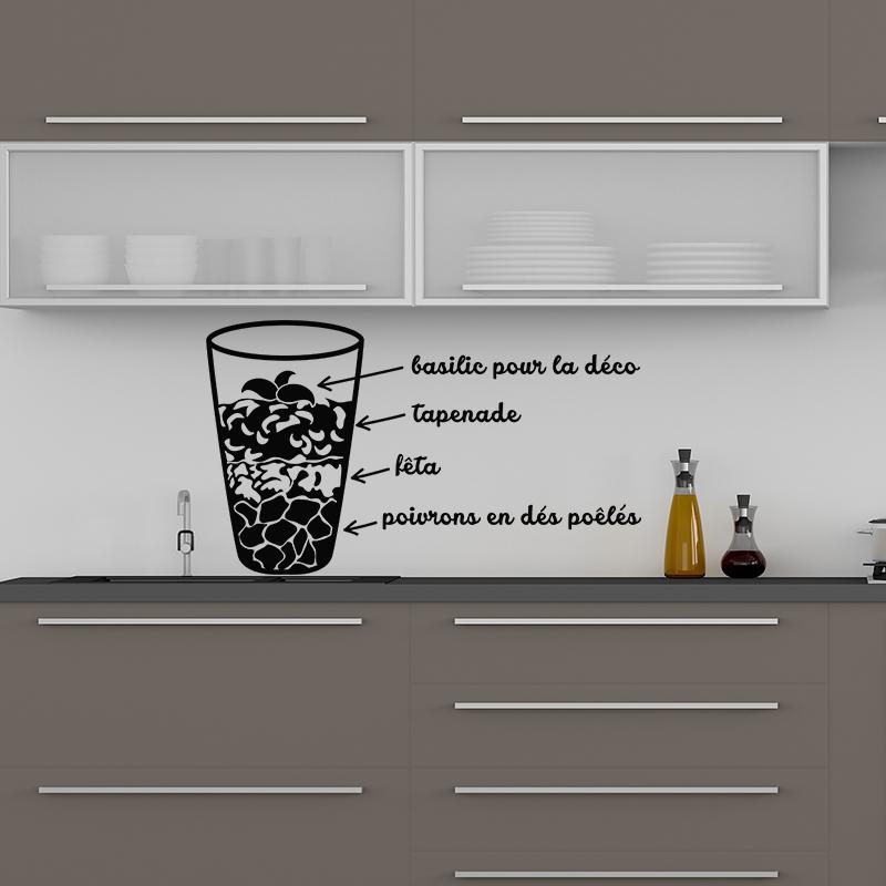 sticker cuisine recette basilic pour la d co stickers. Black Bedroom Furniture Sets. Home Design Ideas