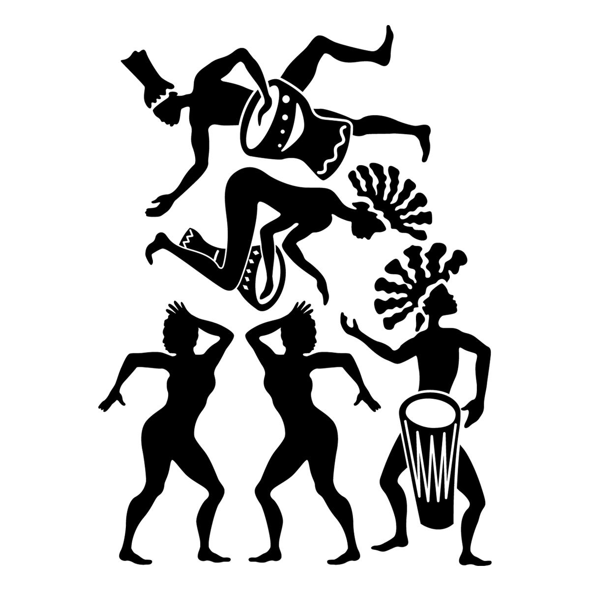 Stickers muraux musique - Sticker Danse africaine ...